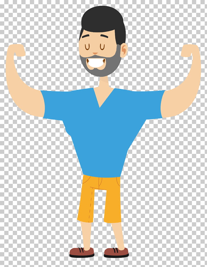 Human body Cartoon , Strongman PNG clipart.