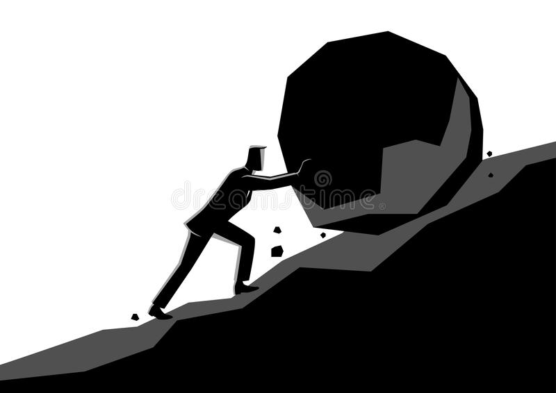 Uphill Struggle Stock Illustrations.
