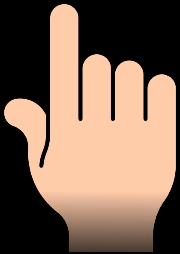 Hand pointer clipart.