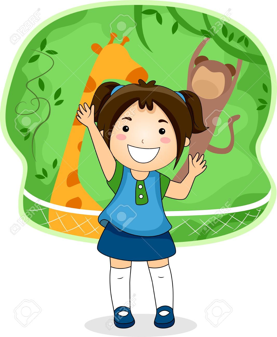 Clipart Student Telling Story.