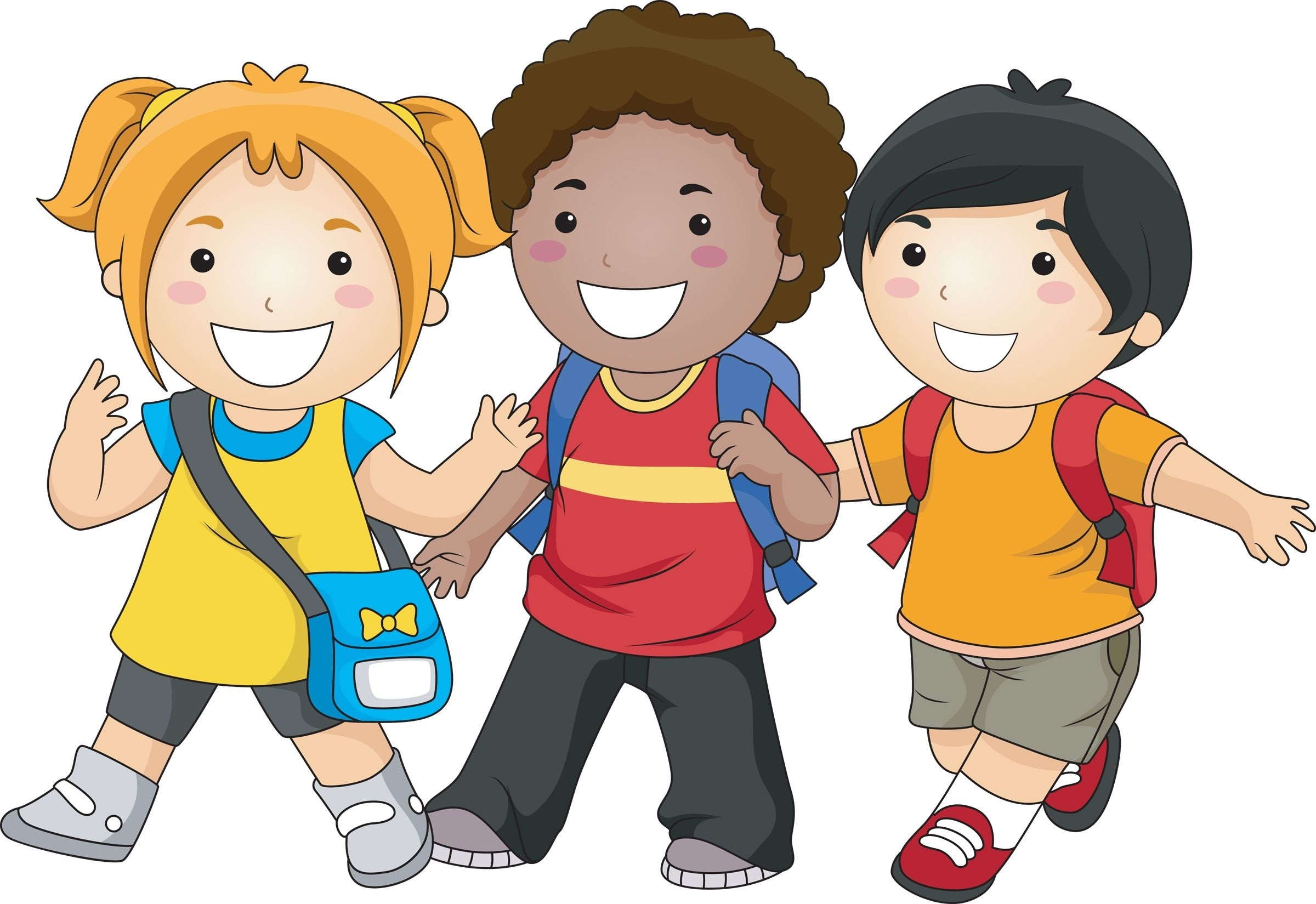 Students Walking To School Clipart.
