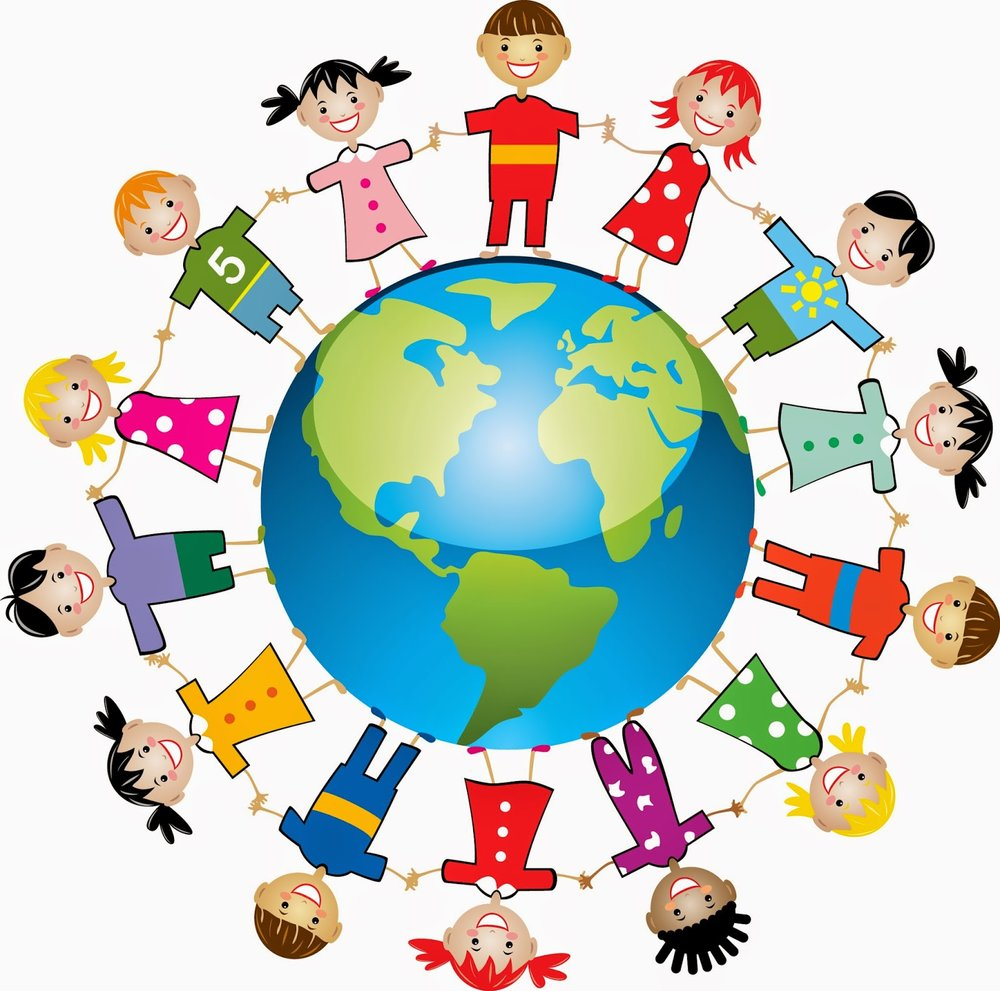 clipart students and world #11