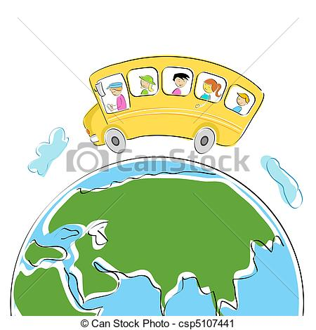 Vector Clip Art of world tour.