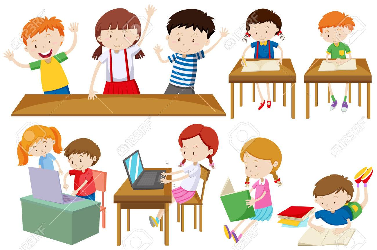 Students learning and reading » Clipart Station.