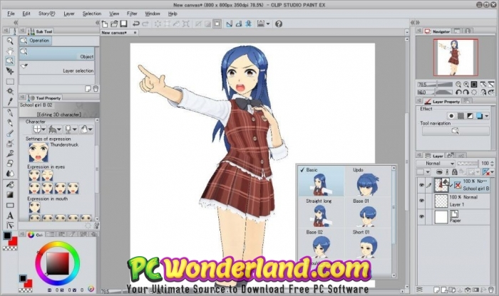 Clip Studio Paint EX 1.8.8 Free Download.