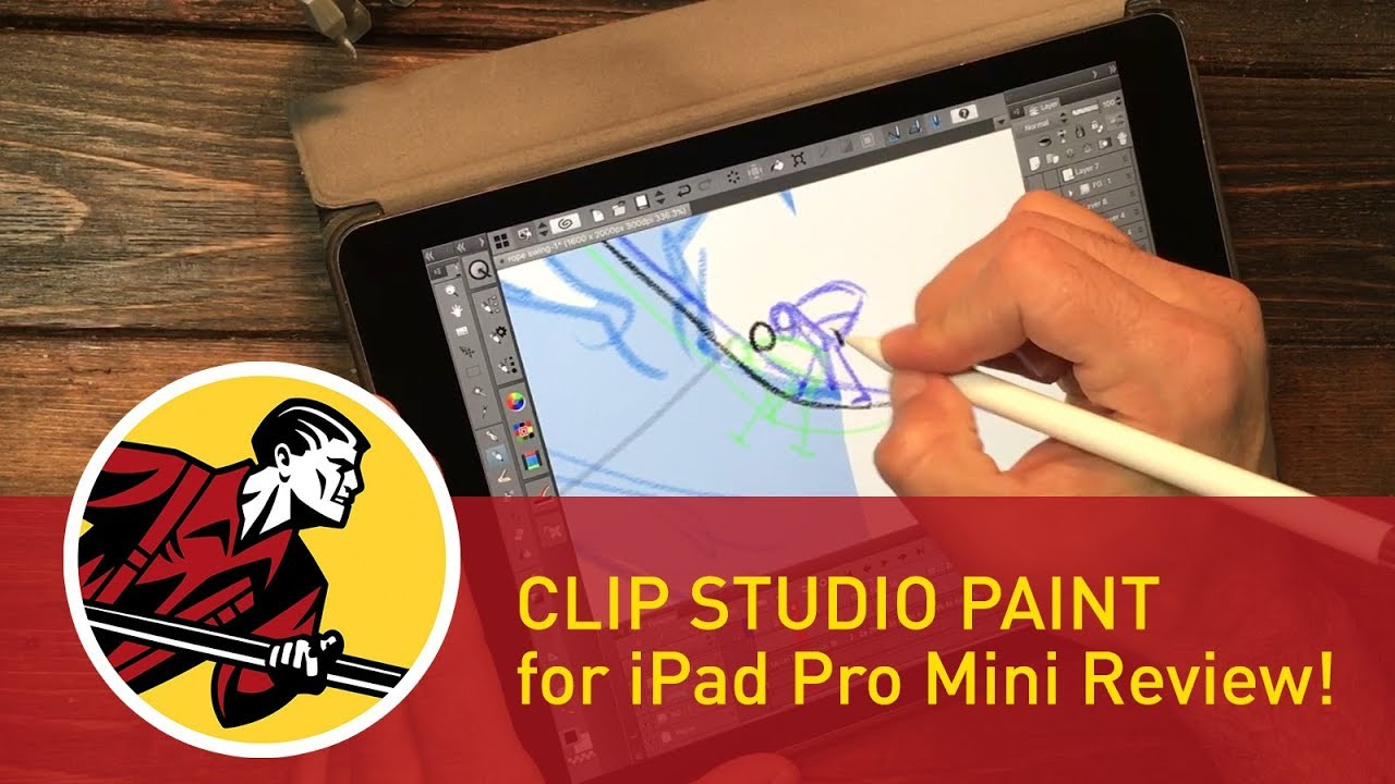 Clip Studio Paint for iPad Pro.