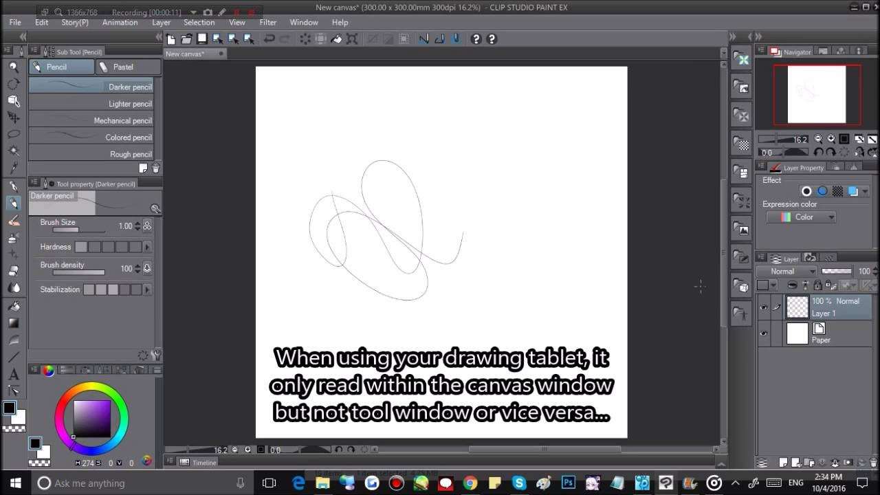Clip Studio Paint : Can\'t read my tablet pen outside of working canvas!?.