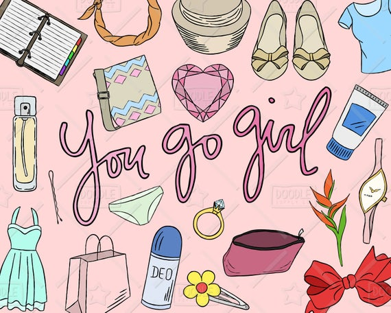 Girly Stuff Clipart Vector Pack, Girly Things, Girly Clipart, Makeup  Clipart, Pretty Things, Planner Girl, Girly Sticker, SVG, PNG file.