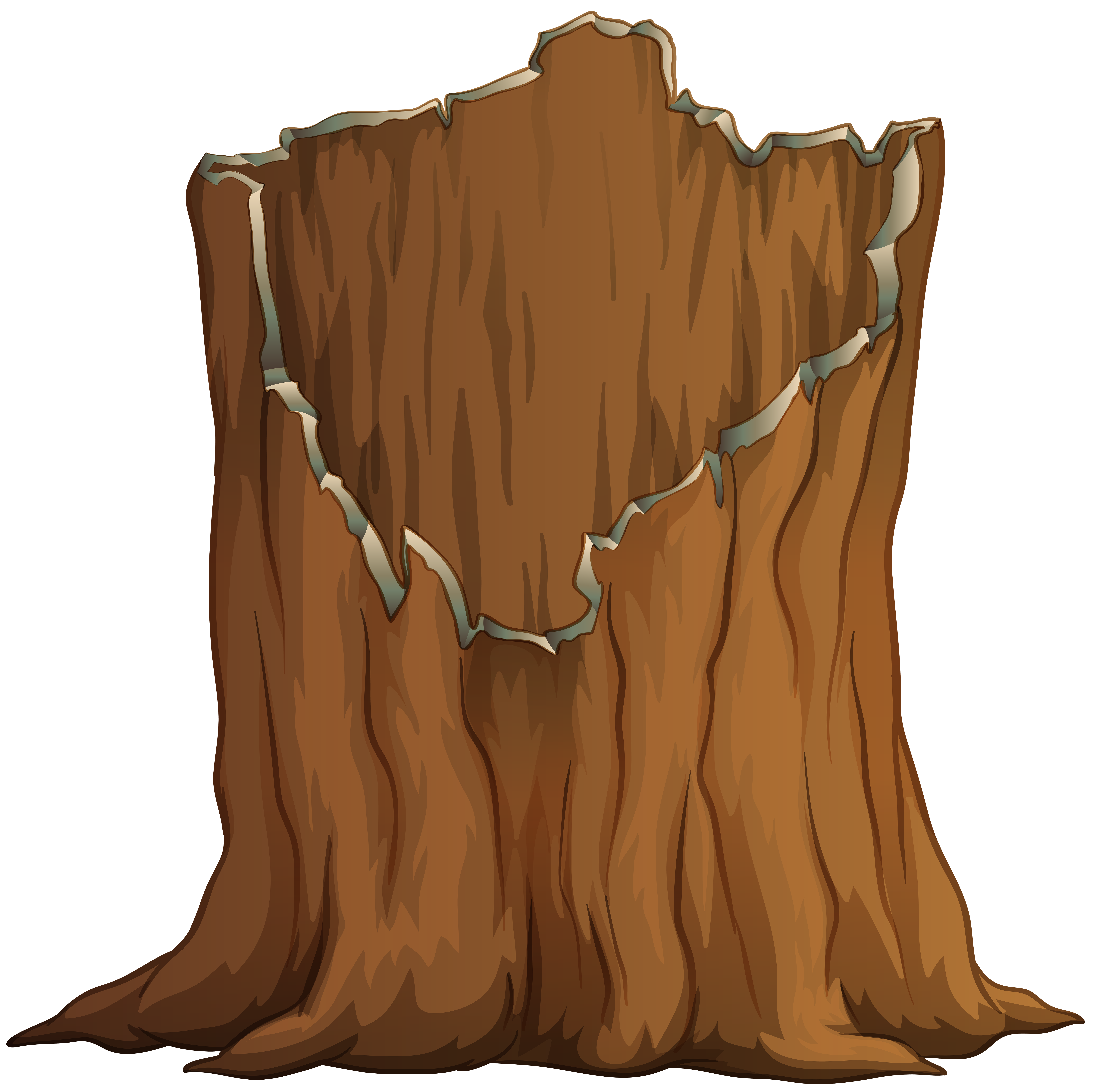 Tree Stump PNG Transparent Clip Art Image.