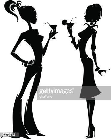 Two Stylish Girls stock vectors.