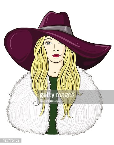Vector illustration of a stylish girl Clipart Image.