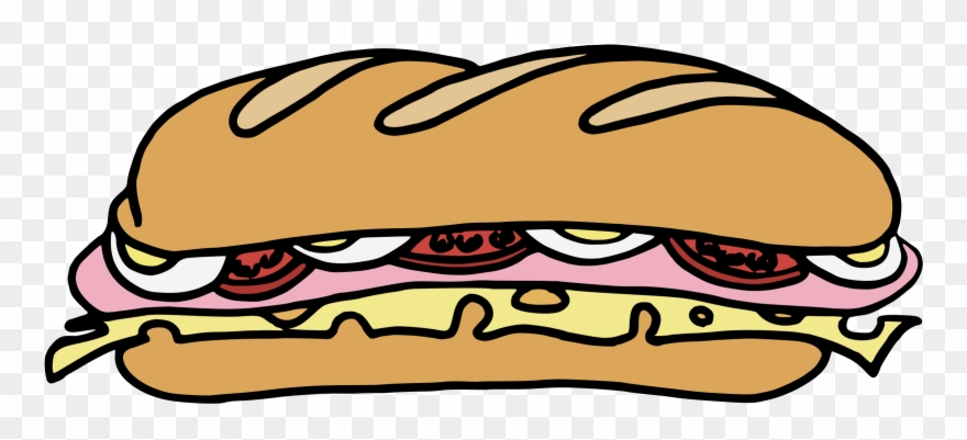 Free Vector Sandwich One Clip Art.