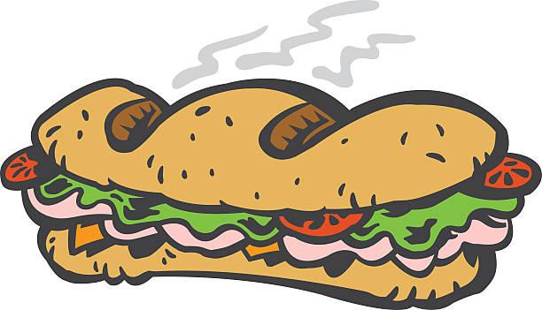 Sub Sandwich Clipart.