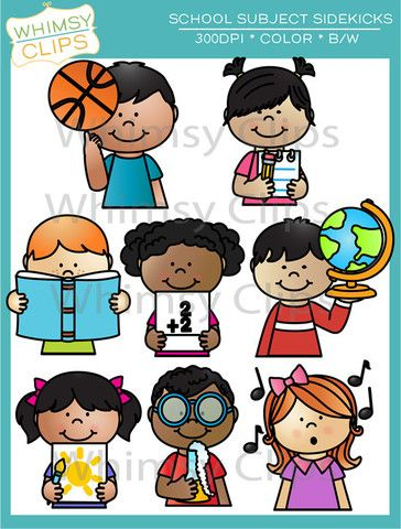 School Subject Sidekicks Clip Art.