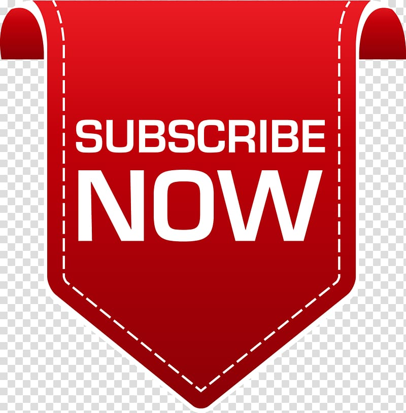 Subscribe Now logo, Subscribe Banner Button transparent.