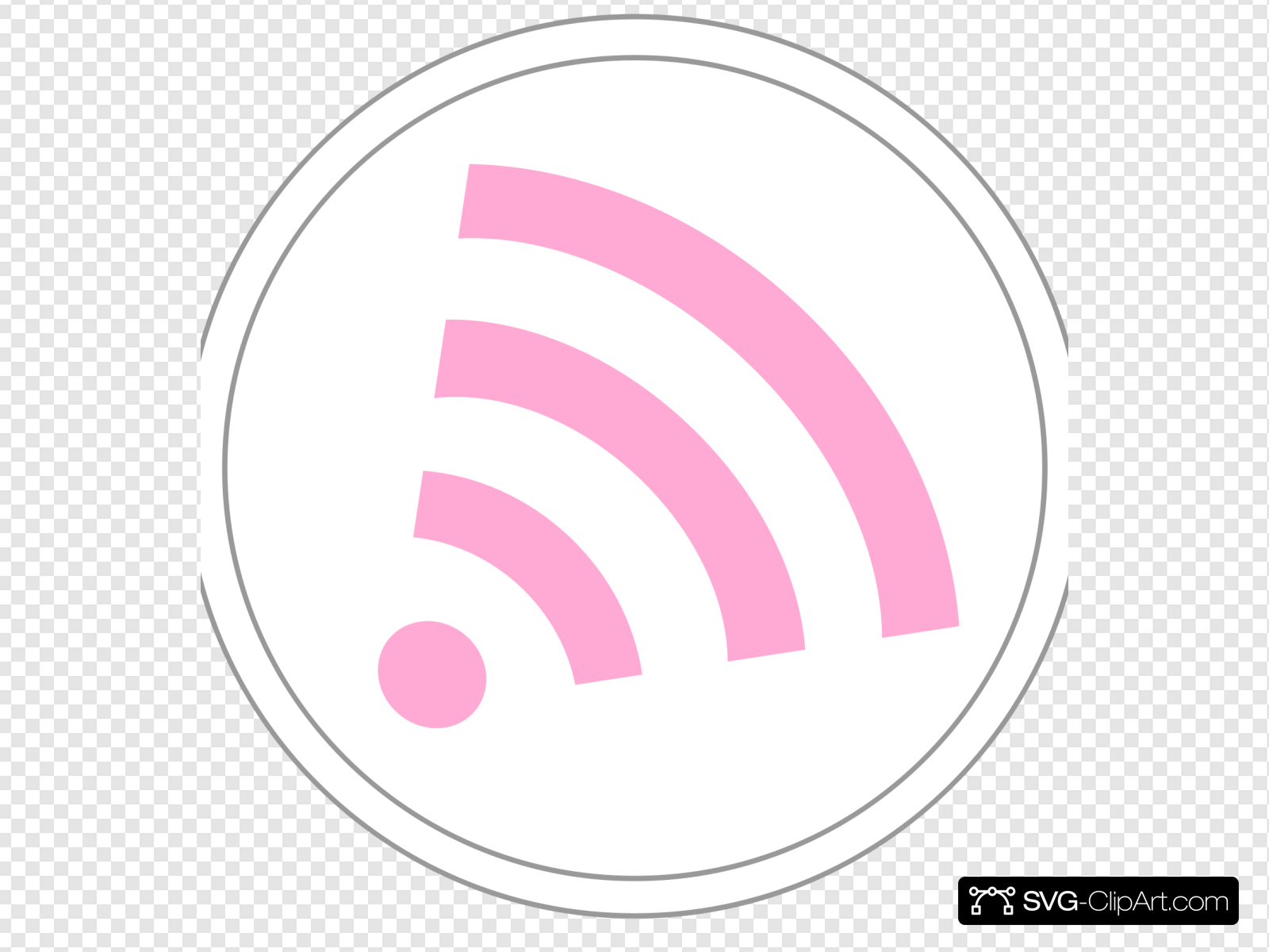 Pink Subscription Wifi Icon Clip art, Icon and SVG.