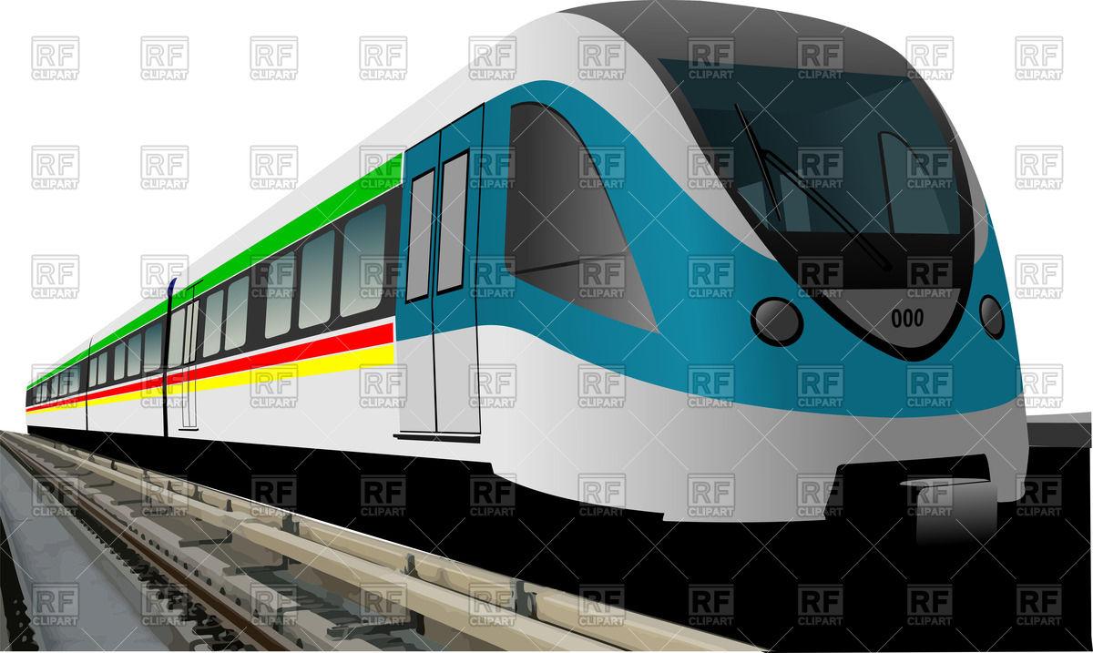 Modern speed bullet train.