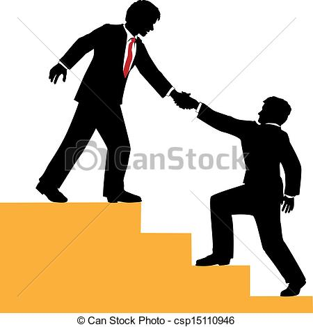 EPS Vector of Business people help climb success.