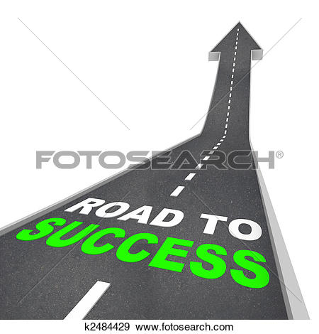 Clipart of 3d business white people. Business success k9677881.