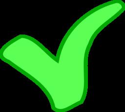 Green Ok Success Symbol Clipart.