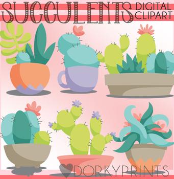 Succulents Clipart.