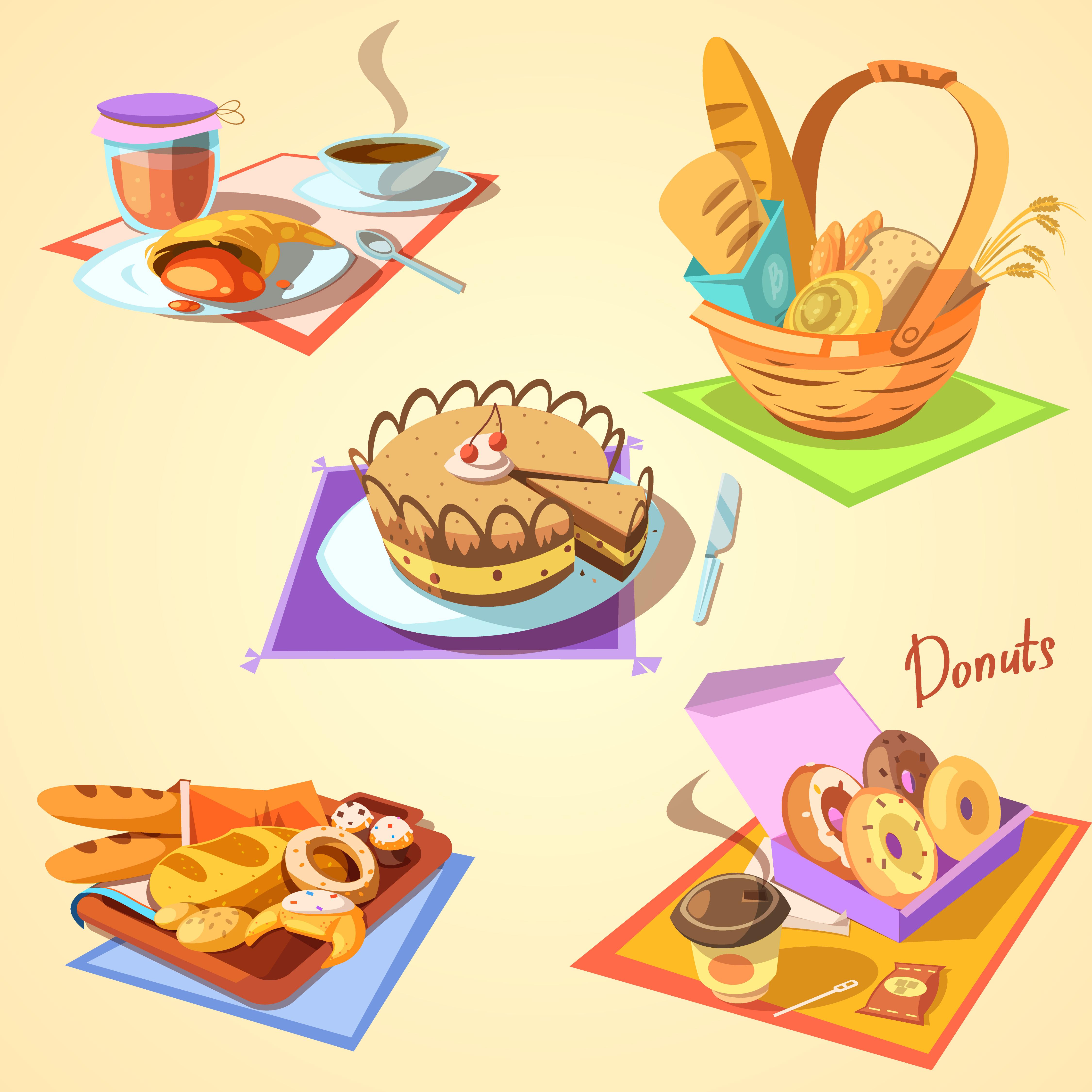 Jeu de dessin animé de boulangerie.
