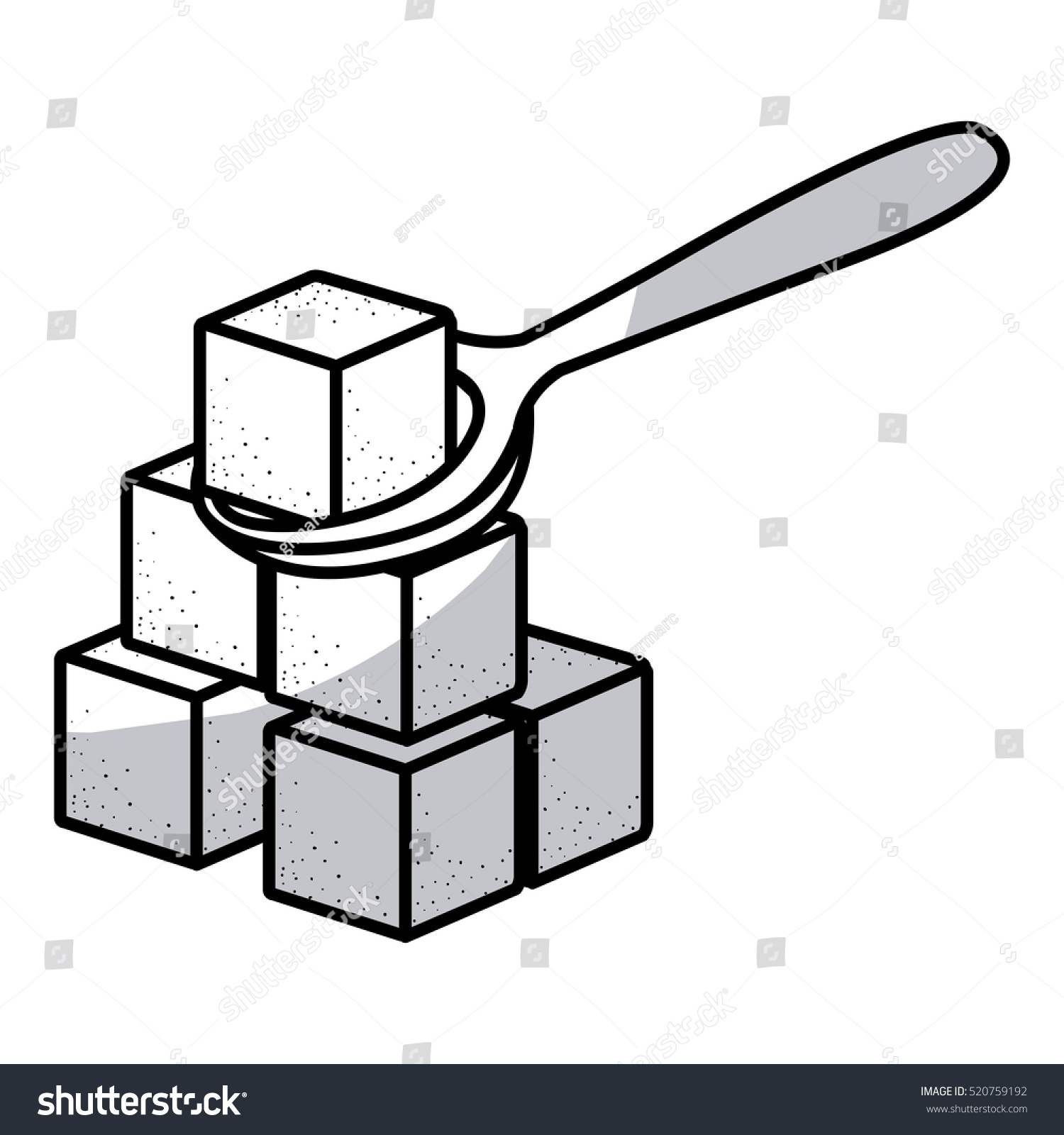 Isolated Sugar Cube Design Stock Vector (Royalty Free) 520759192.