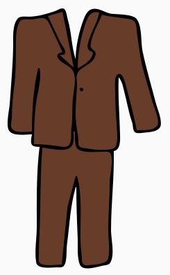 Men's suit clipart image..