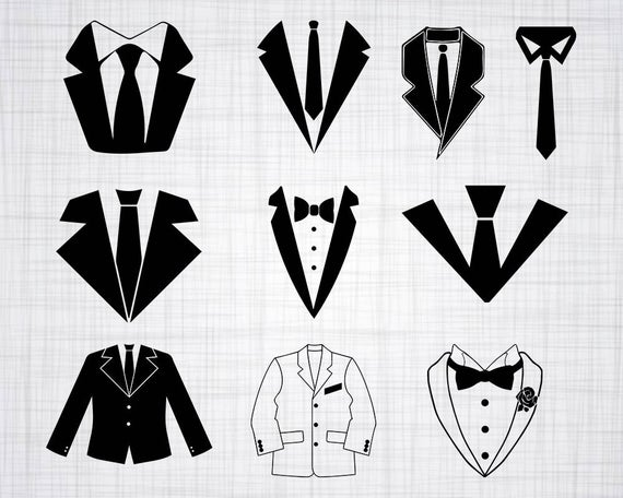 Suit SVG Bundle, Suit SVG, Suit Clipart, Suit Cut Files For Silhouette,  Suit Files for Cricut, Suit Vector, Suit Tie Svg, Dxf, Png, Design.