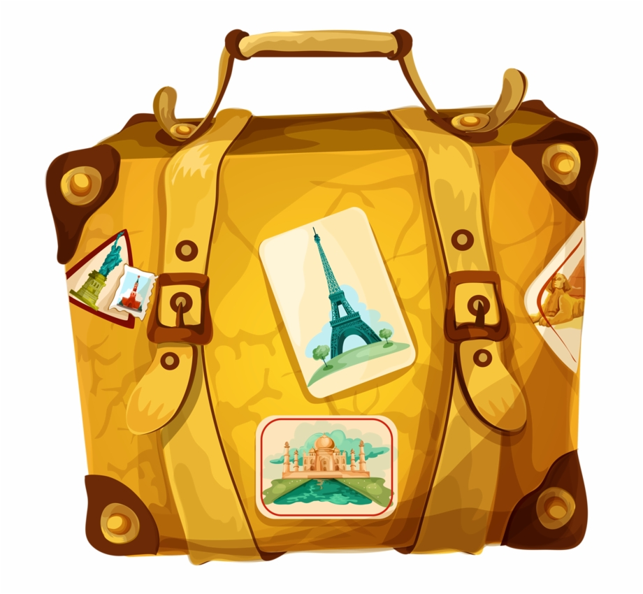 Suitcase Clipart Trolley Bag.