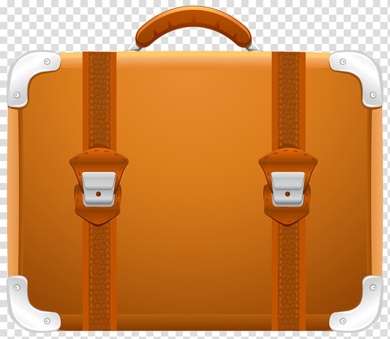 Brown briefcase illustration, Suitcase Travel , Suitcase transparent.