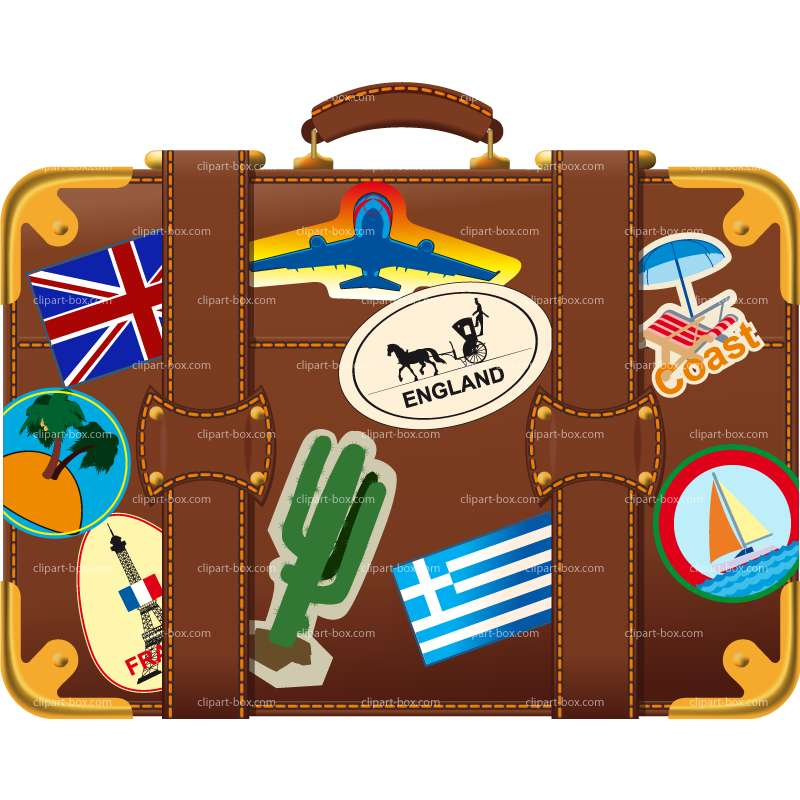 Holiday suitcase clipart clipartfest.