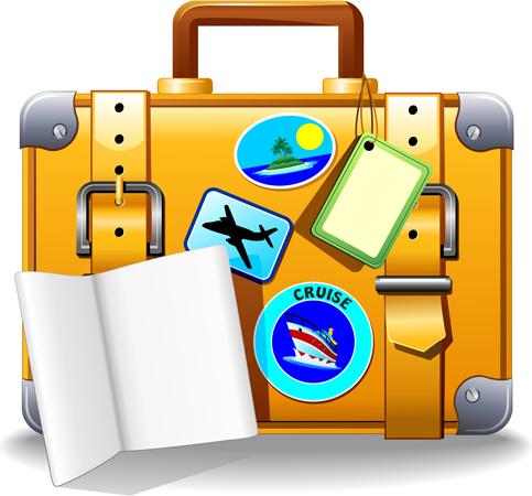 Travel Suitcase Clipart.
