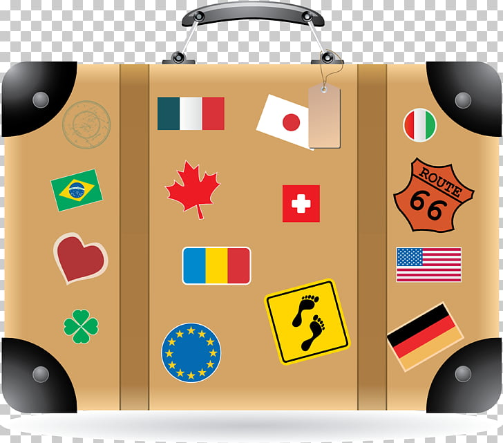 Suitcase Baggage Travel , suitcases PNG clipart.