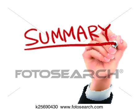 Summary written by 3d hand Clipart.