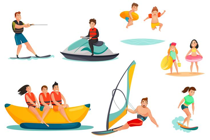 Summer Water Activities Set.