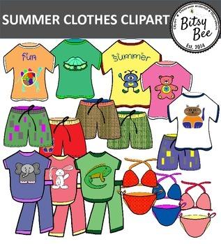 SUMMER CLOTHES CLIP ART.