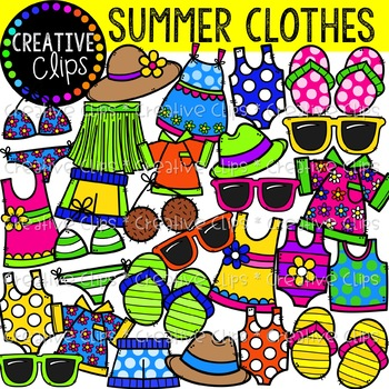 Summer Clothes Clipart {Creative Clips Clipart}.