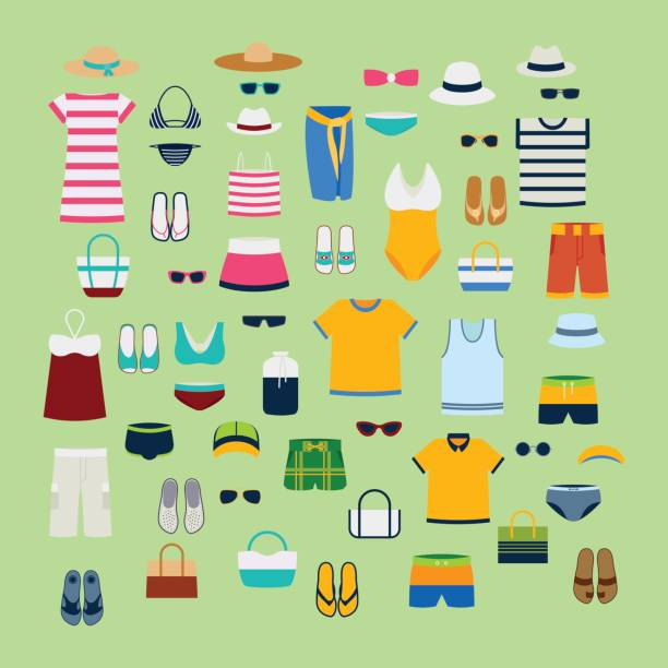 Best Summer Clothes Illustrations, Royalty.