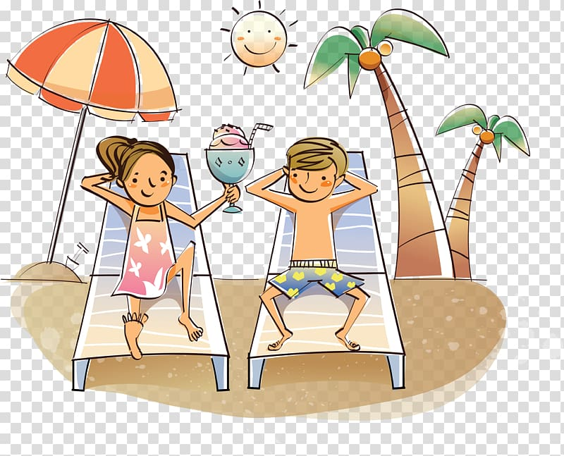 Drawing Cartoon , summer holiday transparent background PNG.