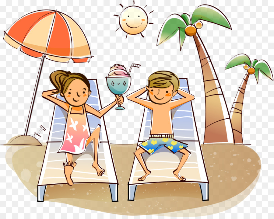 Summer Couple png download.