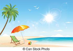 Background backdrop copyspace summer seasonal sun sunshine Vector.