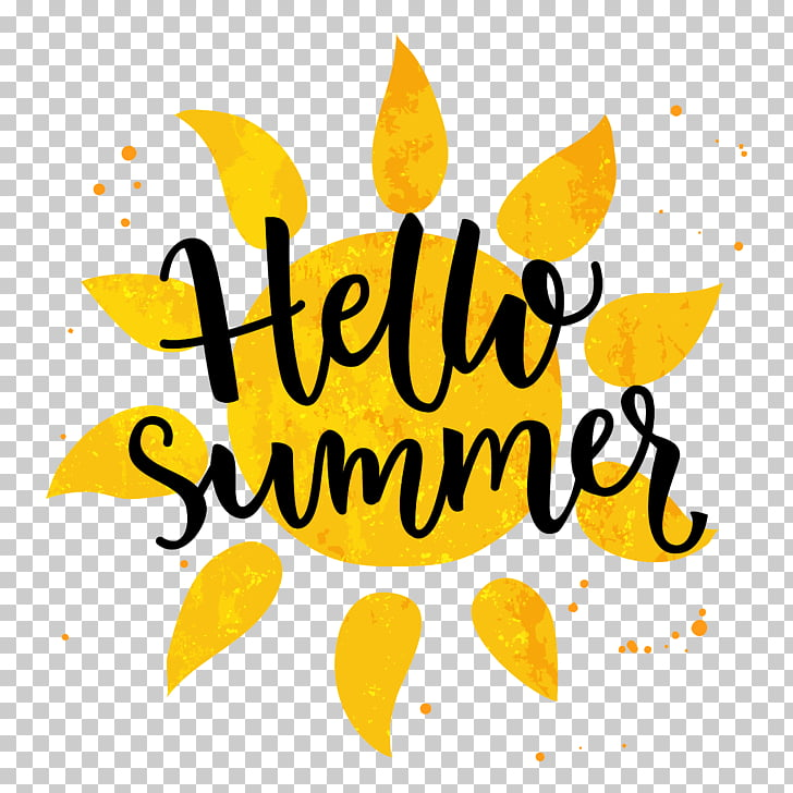 Banner , hello summer PNG clipart.