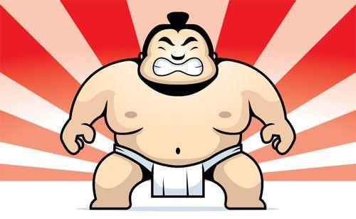 Cartoon Sumo Wrestler.