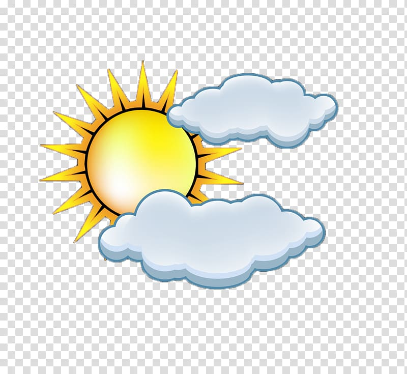 Cloud Icon, Sun clouds weather icon transparent background.