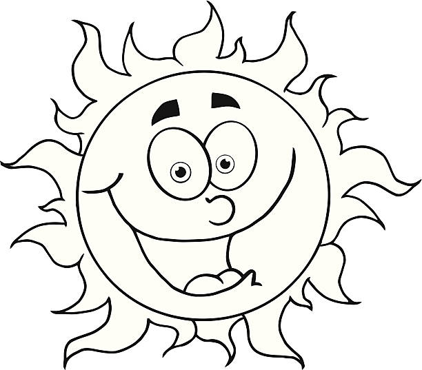 Best Sun Clipart Black And White Illustrations, Royalty.