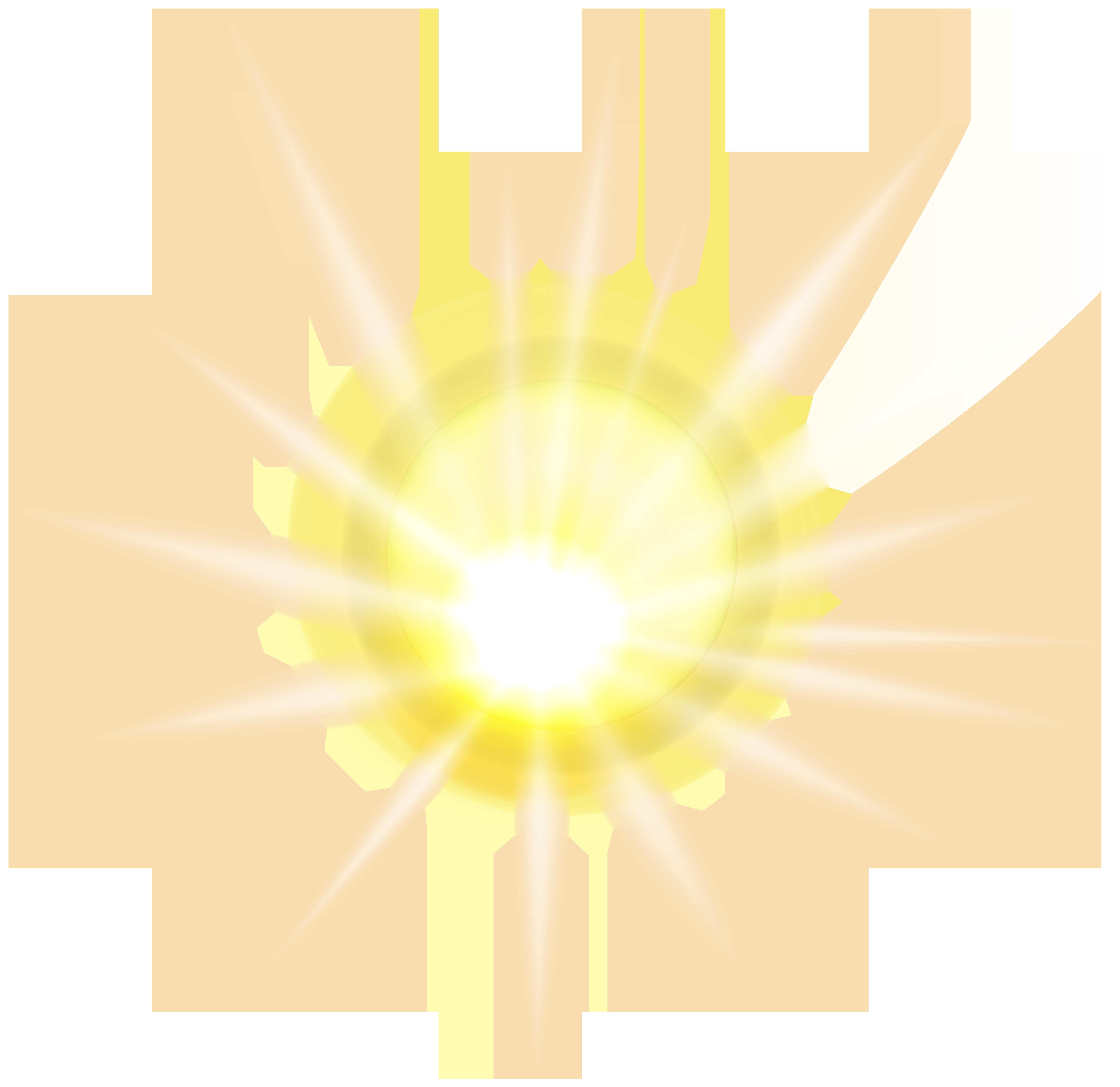 Sun Effect PNG Clip Art Image.
