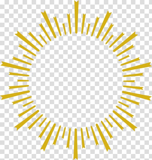 Graphic design, Golden sun rays personality, yellow sun rays.