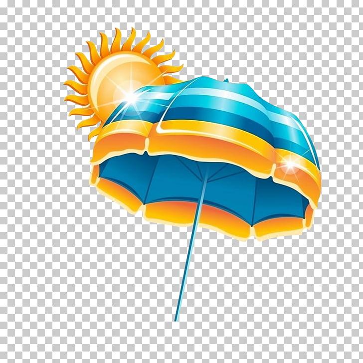 Sun umbrella PNG clipart.