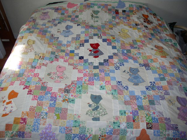 Irish Chain Sunbonnet Sue Quilt Top. One of these days I am going.